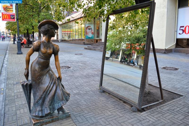 Скульптура «Модница», Челябинск