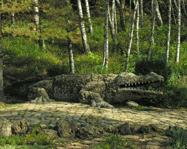Статуя крокодила, Кисловодск