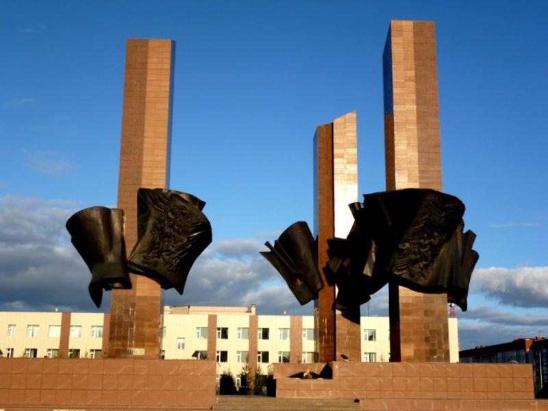 Мемориал памяти в знак фблагодарности погибшим воинам Великой отечественной войны, Новый Уренгой