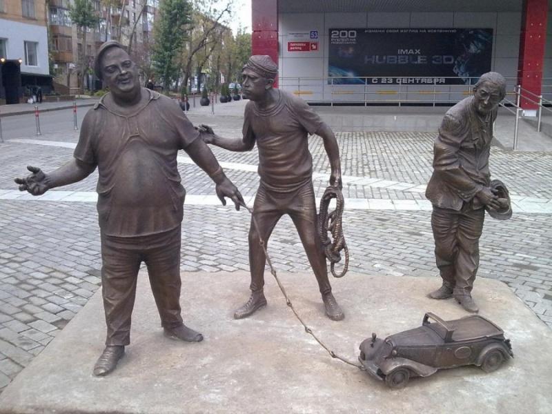 Скульптурная группа «Трус, Балбес и Бывалый», Пермь