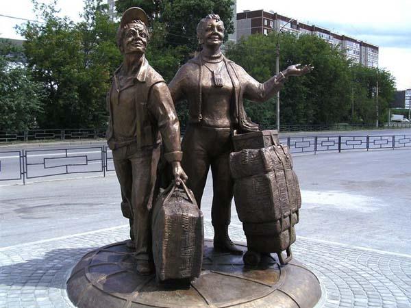 Скульптурная группа «Челноки», Екатеринбург